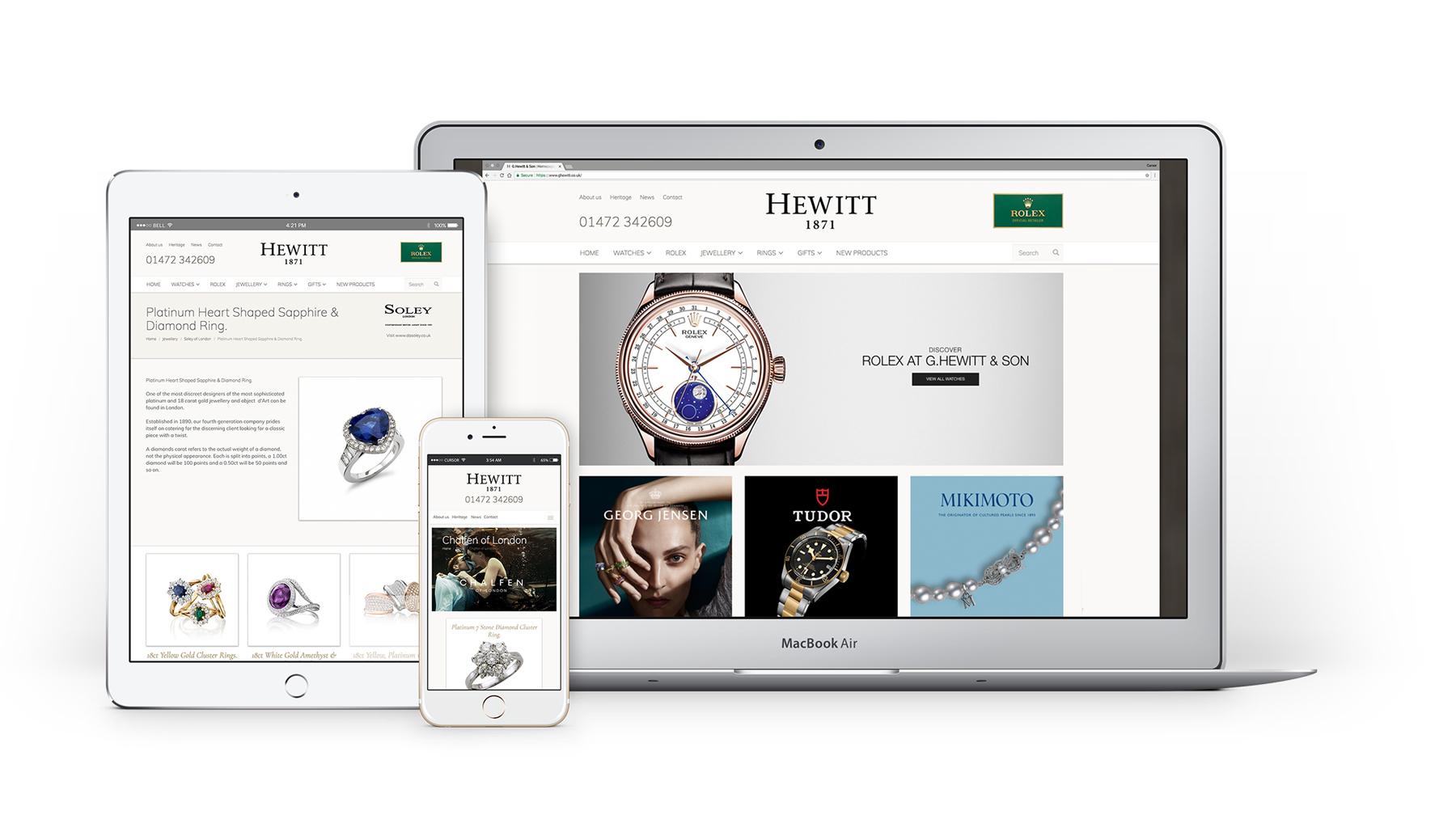 G.Hewitts responsive web design