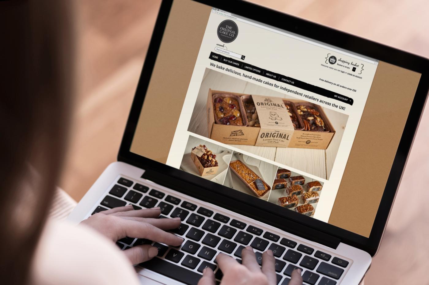 Original Cake e-commerce web design