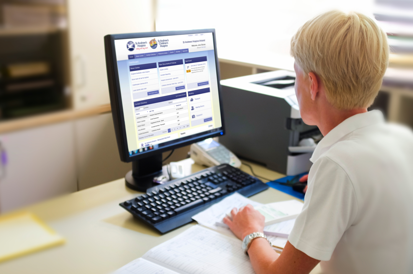 St.Andrews Hospice web development intranet example