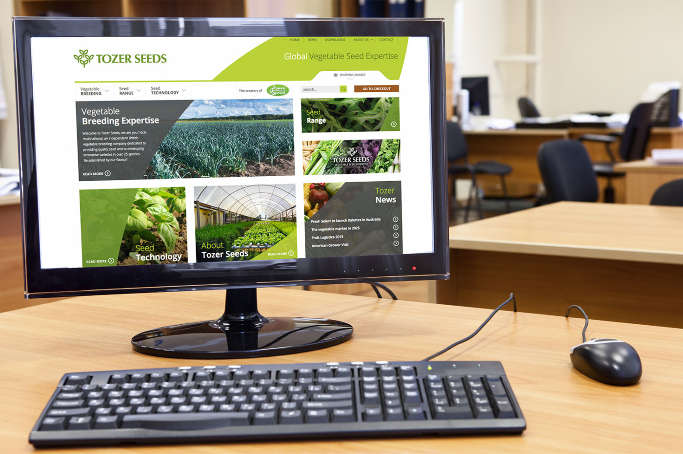 Tozer Seeds ecommerce website on desktop
