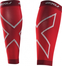 2XU Compression Calf Sleeves Refresh red