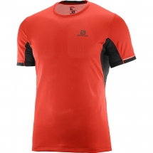 Salomon Agile + SS Tee M fiery red