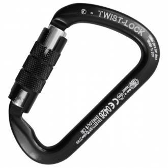 Kong Twist Lock Mosquetón aluminio negro