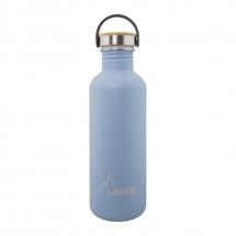 Laken Botella Azul Inox 1 L tapón bamboo