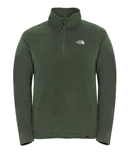 TNF M 100 Glacier 1/4 Zip TNF fig green