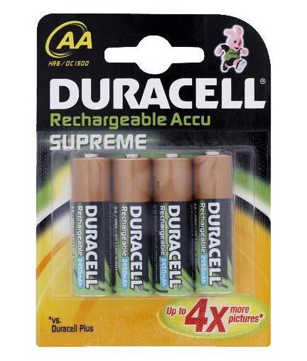 Duracell AA Recargable 1,5V-LR06 x 4 alk.