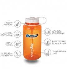 Nalgene Botella Boca Ancha 1000 ml naranja