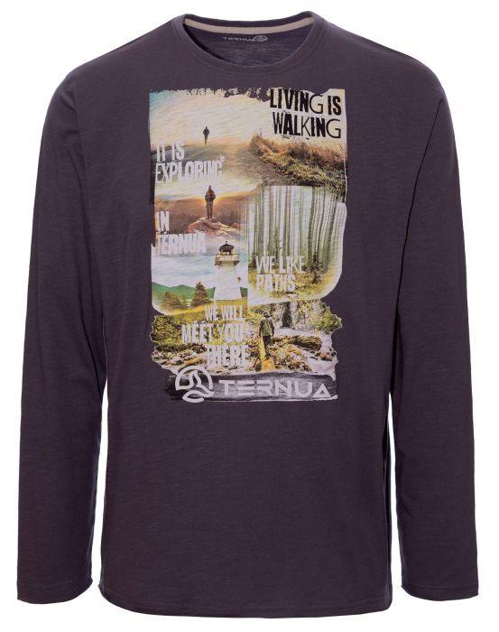 Ternua Valto L/S Shirt M whales grey