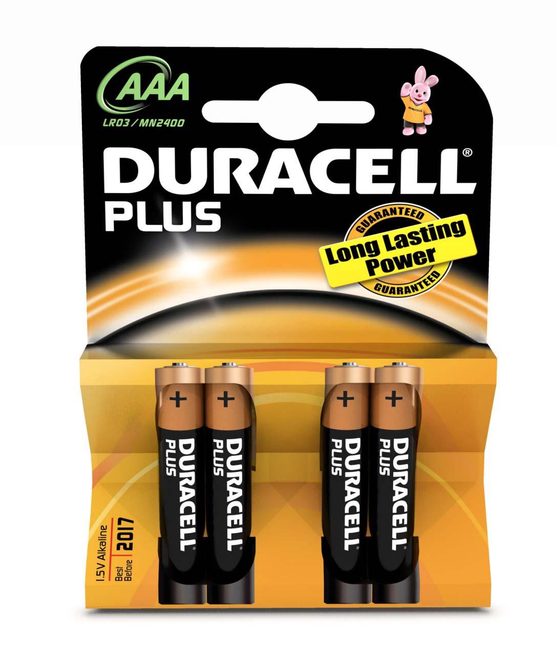 Duracell AAA 1,5V-LR03 x 4 alk.