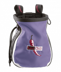 Red Chili Chalkbag Logo lila