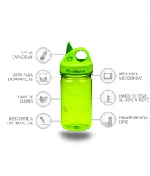 Nalgene Botella Grip'N Gulp Verde 375 ml
