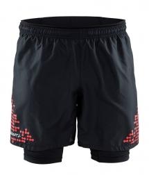 Craft Performance Hyrid Trail Shorts 2in1 black/brig