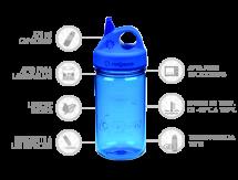 Nalgene Botella Grip'N Gulp Azul 375 ml