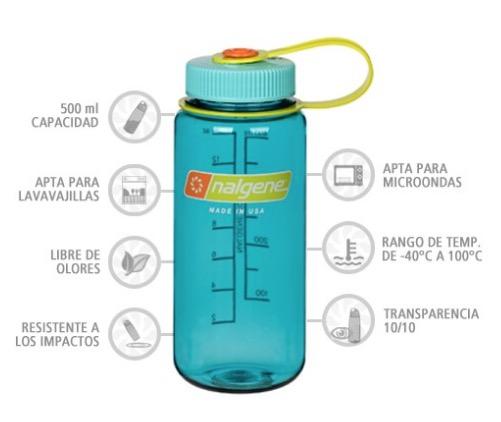 Nalgene Bidón Boca Ancha 500 ml azul cer