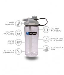 Nalgene Botella Multidrink Transparente 600 ml