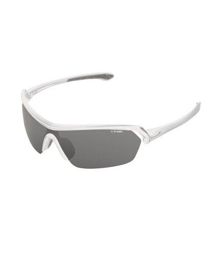 Cébé Eyemax Shield Shiny White Variochrom Perfo Grey