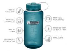 Nalgene Botella Boca Ancha Añil 1000 ml