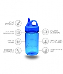 Nalgene Botella Grip'N Gulp Azul 375 ml