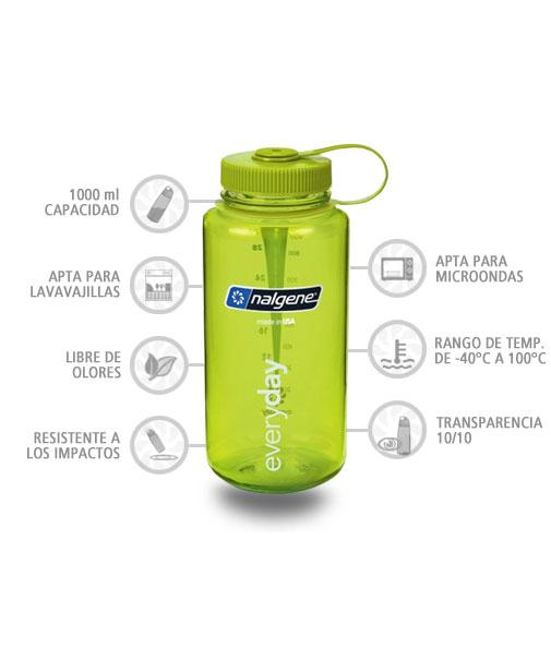 Nalgene Botella Boca Ancha 1000 ml verde