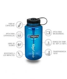 Nalgene Botella Boca Ancha 1000 ml azul