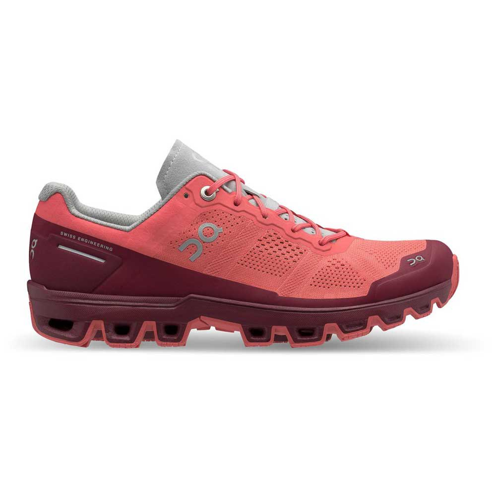 On Cloudventure Woman coral mulberry