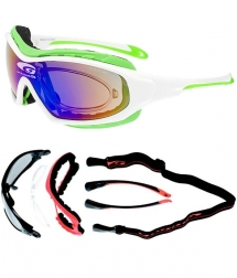 Goggle Ususa White Green Polychromatic Green