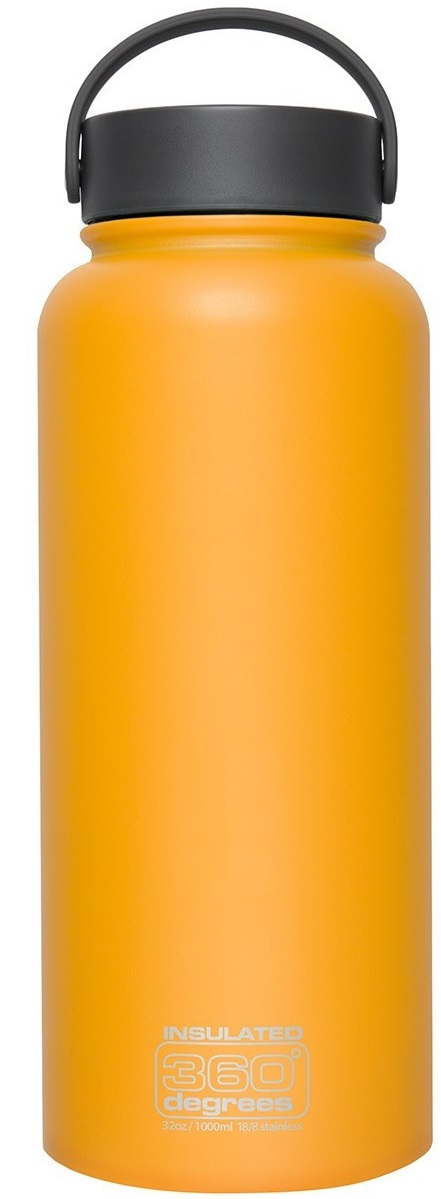 360º Degrees Boca Ancha Insulated 1000 ml yellow