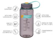Nalgene Botella Boca Ancha Berenjena 500 ml