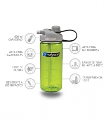 Nalgene Botella Multidrink Verde 600 ml