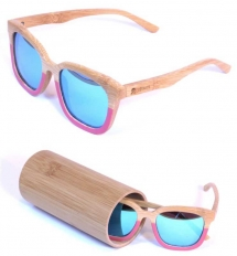 LePirate Girl Bamboo Glasses red river