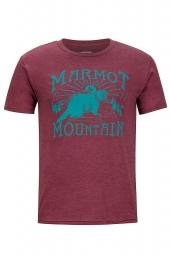 Marmot Sunrise Marmot Tee SS burgundy heather