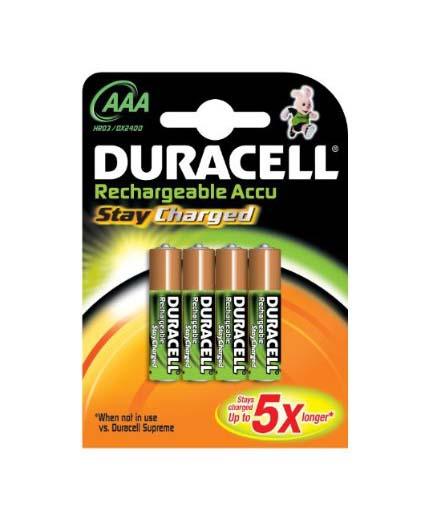 Duracell AAA Recargable 1,5V-LR03 x 4 alk.