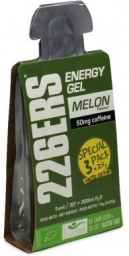 226ers Pack 3u Energy Gel BIO 25g Caffeine 50 mg melon