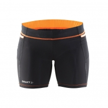 Craft Trail Short Tght W black flourange