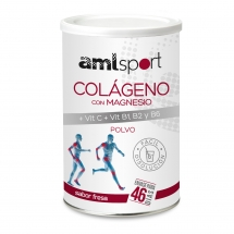 AML Sport CAJA X 6 COLÁGENO con Mag. Vit C + Vit. B1, B2 y B6 sabor fresa (350 g)- Polvo