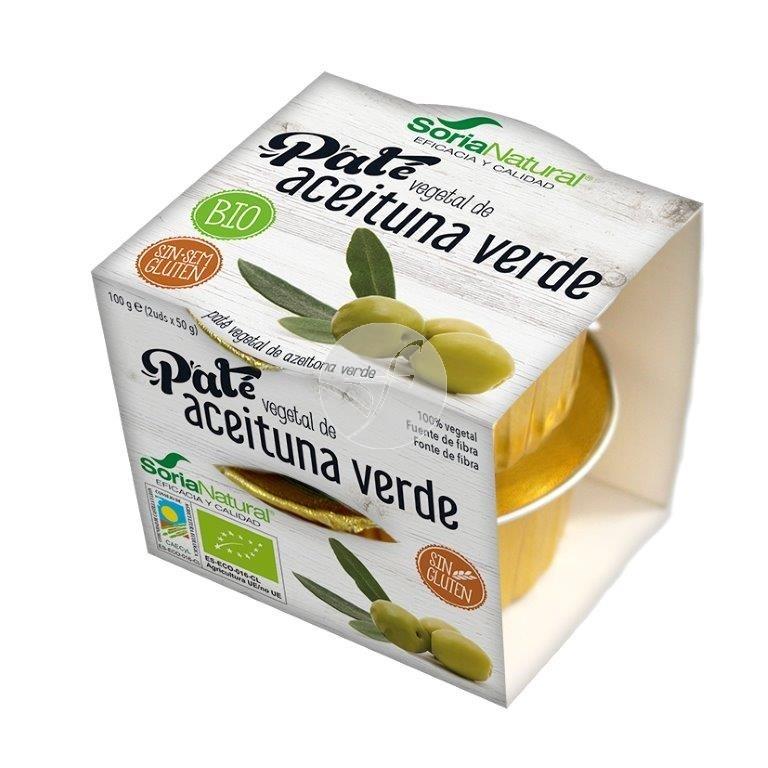 Pate Aceituna Verde Bio pack 2x50 gr