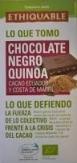 Chocolate negro quinoa Comercio Justo