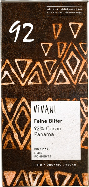 Chocolate Negro 92% Bio 80 gr