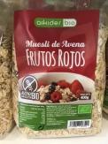 Muesli Frutos Rojos Bio Sin Gluten, 400 gr