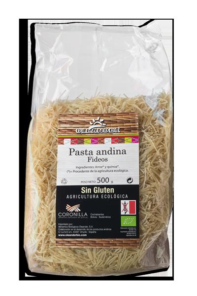Fideos Pasta Andina de Arroz y Quinoa 500 gr