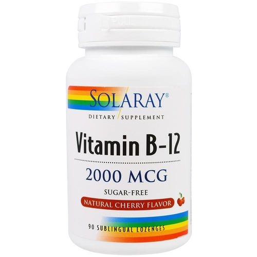 Vitamina B12 Sublingual 2000MCG Solaray 90 comp