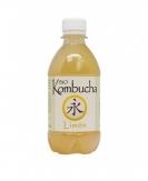 Kombucha Limon, te rojo, frutas del bosque, te verde, hierba mate, roibosBio 33 cl vidrio