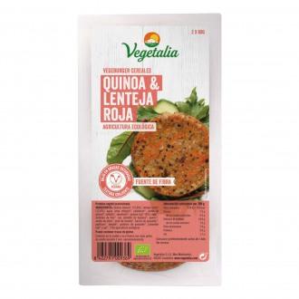 Hamburguesa Bio Quinoa y Lenteja Roja
