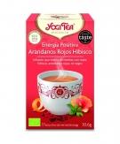 Yogi Tea Energía Positiva Arándanos R. Hibisco 17 bol.