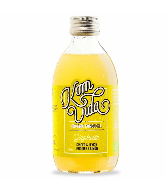 Kom Vida Te Kombucha Bio Jengibre y limón 500 ml
