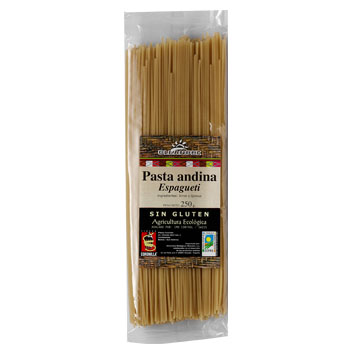 Espagueti Pasta Andina de arroz y quinoa 250g
