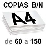 A4 Copias Blanco y Negro de 60 a 150