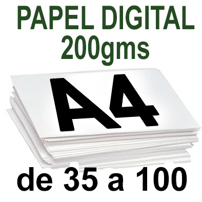 Papel Especial DIGITAL 200grm  A4 de 35 a 100 copias