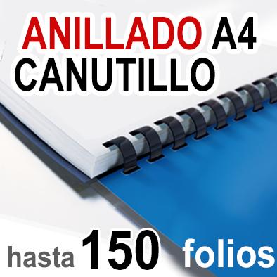 Anillado en Canutillo - A4 -Hasta 150 folios