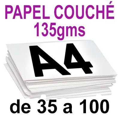 Papel Especial COUCHÉ BRILLO 135grm de 35 a 100 copias